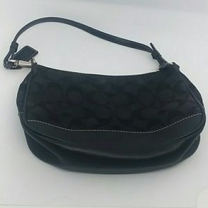 Coach Black Signature Demi Wristlet